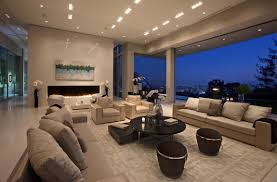 Huge Living Room Large Modern Home With Lovely City Views Bel Air Los Angeles