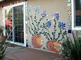 mosaic mural made from broken tiles or