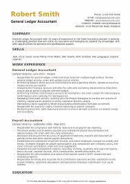 General Resume Outline General Ledger Accountant Resume Samples Qwikresume