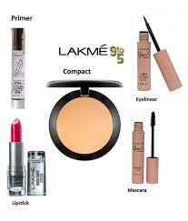 lakme 9 to 5 eyelinear mascara lipstick mac primer pact makeup kit gm lakme 9 to 5 eyelinear mascara lipstick mac primer pact makeup kit gm