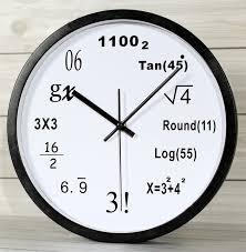 mathematical math equations polytechnic numbers watch fashion creative quartz mute wall clock watch