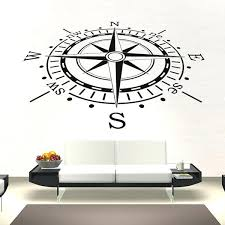 compass wall decal with compass navigation wall sticker nautical sailing wall decal bathroom home decor compass rose wall sticker beb