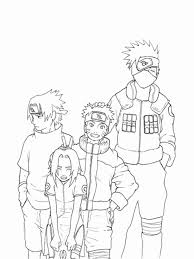 Naruto Squad 7 And 10 Coloring Page Free Printable Pages For