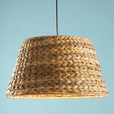 Seagrass pendant light (buy from Shades of Light) or maybe I could make this