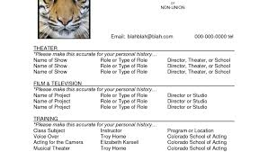 Resume Theater Resume Example Acting Resume Keira Knightley