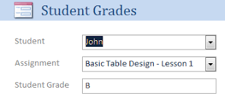 Student Grade Tracker Excel Microsoft Access Student Assignment Grade Tracking Database Template