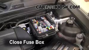 replace a fuse 2010 2016 gmc terrain 2010 gmc terrain slt 3 0l v6 6 replace cover secure the cover and test component