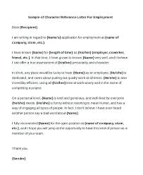 Quality Of Work Example Good Reference Letter Examples Of Letters Personal Format For