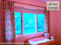 Diy No Sew Curtains Fast Easy Cheap No Sew Curtains Home Everyday