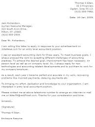 Accounting Resume Cover Letters Cover Letter Accountant Example