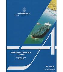 Np350 2 Admiralty Distance Tables Indian Ocean Volume 2 3rd Edition 2008