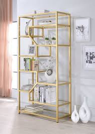 lecanga clear gl and gold bookshelf