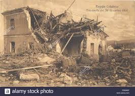 Italiano: 'Reggio Calabria - Terremoto del 28 dicembre 1908'. Cartolina.  Autore sconosciuto. 28 December 1908. Unknown 75 Reggio Calabria, terremoto  1908 Stock Photo - Alamy