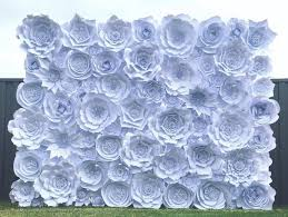 White Paper Flower Wall Paper Flower Walls For Hire Splash Of Pretty Melbourne Paper Flowers
