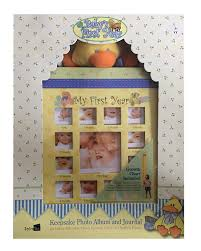 Baby First Year Weight Chart Babys First Year Keepsake Photo Album And Journal With Plush Growth Chart