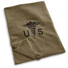 u s military surplus embroidered medical blanket new