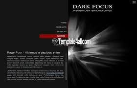 Free Flash Web Template Free Flash Templates Dark Black Theme Design Flash Black