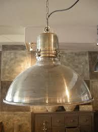 Industriële Hanglamp Zilver Met Witte Binnenkant Atelier Met Verve