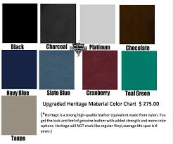Omni Table Heritage Color Chart