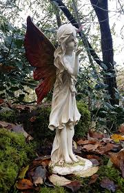 fairy garden statues. Large Magical Fairy Outdoor Garden Ornament Stone Effect Figurine Angel Statue: Amazon.co.uk: \u0026 Outdoors Statues