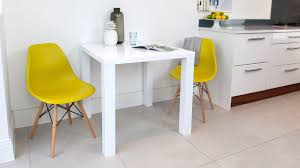 small dining furniture. Small White Gloss Dining Table And Yellow Chairs Furniture