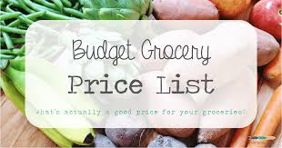 Grocery List Prices Budget Grocery Price List Crafty Coin