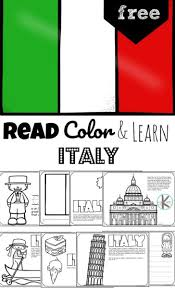 Just for fun or to make a lesson more attractive. Free Read Color And Learn About Italy