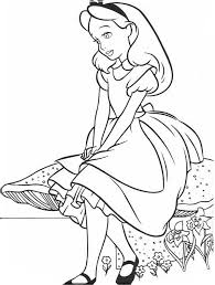 Small Picture Lovely Alice in Wonderland Coloring Page Download Print Online