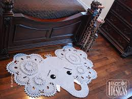 Elephant Rug Crochet Pattern Adorable Josefina And Jeffery Elephant Rug PDF Crochet Pattern By Ira