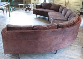 large 1960s curved sectional sofa for 1