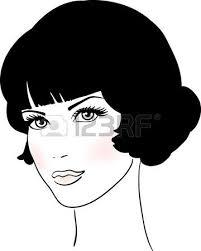 Stock Vector Kreslenie Dámy A Páni Cute Girl Face Girl Face