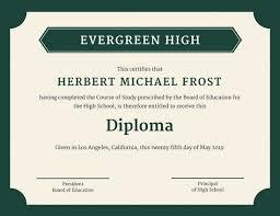 Diploma Wording Customize 71 Diploma Certificate Templates Online Canva