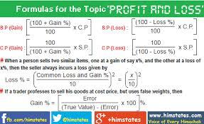 Profit Loss Formula Profit And Loss Questions And Answers Formulas Shortcut