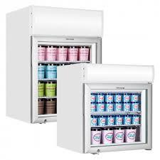 countertop glass freezer