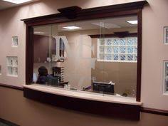 Sliding office window Reception Desk Sliding Privacy Glass And Good Counter Space Opgroeiendekindereninfo 33 Best Reception Images Reception Areas Design Offices Desk Ideas
