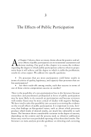 3 the effects of public participation public participation in page 75