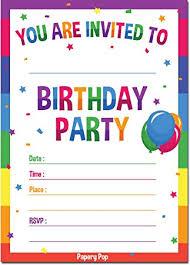 Photo Party Invitations Birthday Invitations With Envelopes 15 Pack Kids Birthday Party Invitations For Boys Or Girls Rainbow
