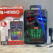 Loa Kéo Di Động Bluetooth Không Dây Kimiso Qs-2805/Qs-7801 Kèm Micro Có Dây  , Âm Thanh Chất Lương Cao, Âm Bass Hay giảm chỉ còn 425,000 đ