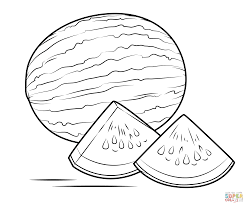 Small Picture Watermelon coloring page Free Printable Coloring Pages