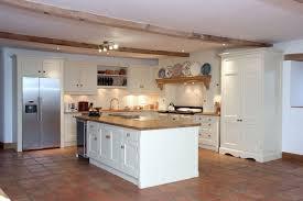 aga surround with oak mantle burr sycamore kitchen