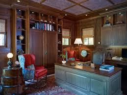 masculine office. Home Office Decor Ideas Mediterranean With Dark Wood Pane Masculine