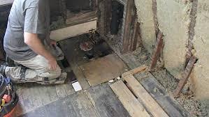 demo bathroom floor