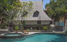 private resort for with traditional wooden buildings and joglos canggu