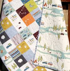 Boy Quilt, Gender Neutral Woodland Forest Nursery Baby Bedding ... & Camp Sur Quilt, Gender Neutral Woodland Forest Adamdwight.com