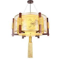 chinese style pendant light sheepskin wood living room bedroom hotel restaurant box restaurant club pendant lamp wl5021344 pendant lighting parts plug in