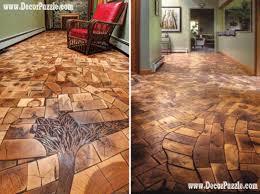 wooden oak flooring, unique and creative flooring ideas options