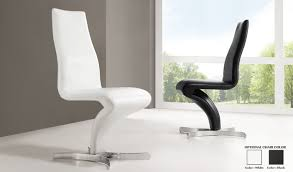 leather dining chairs modern. Naples Z Shape Black Faux Leather Modern Dining Chair 21168 Chairs F