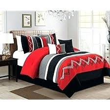 Red And Black Queen Comforter Sets Red Black White Comforter Sets ...
