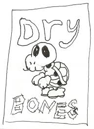 Mario Dry Bones Coloring Pages