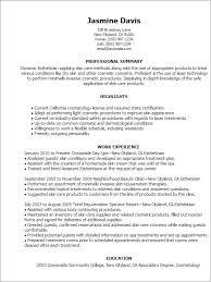 Esthetician Medical Esthetician Resume By Jasmine Davis